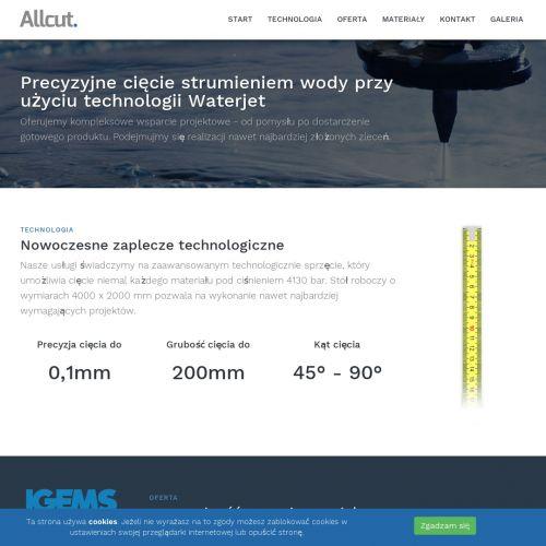 Cięcie wodą stali nierdzewnej - Piaseczno