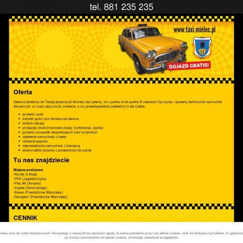 Taxi Mielec na termin