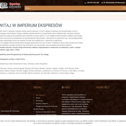 Ekspresy kolbowe - Warszawa