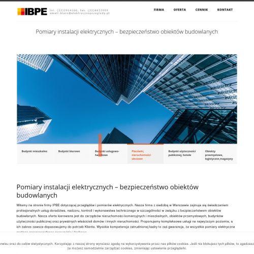 Przeglądy i pomiary instalacji elektrycznej
