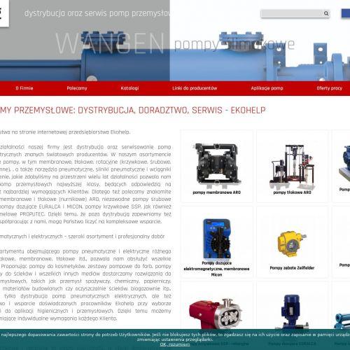 Pompy przemysłowe, rotacyjne i ślimakowe
