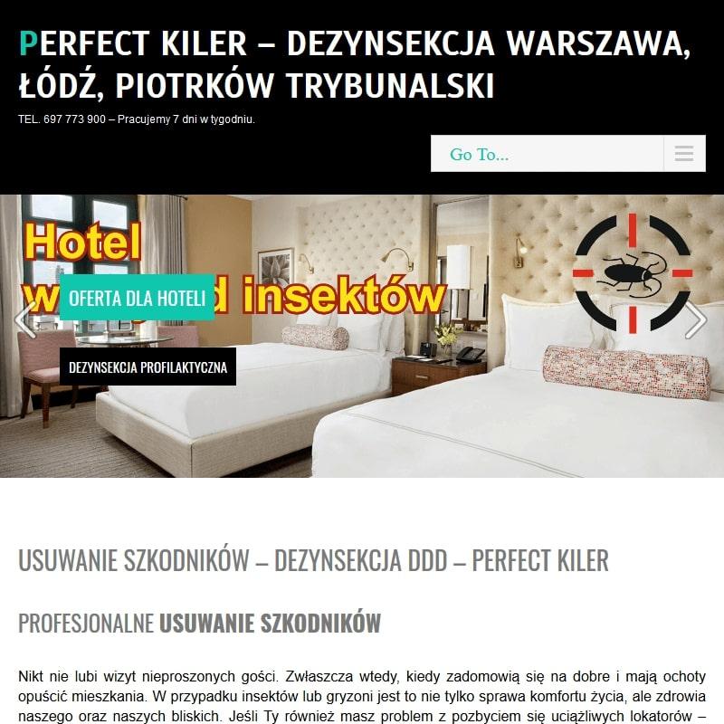 Dezynsekcja i dezynfekcja w Warszawie