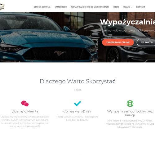 Wypożyczalnia samochodów sportowych w Łodzi