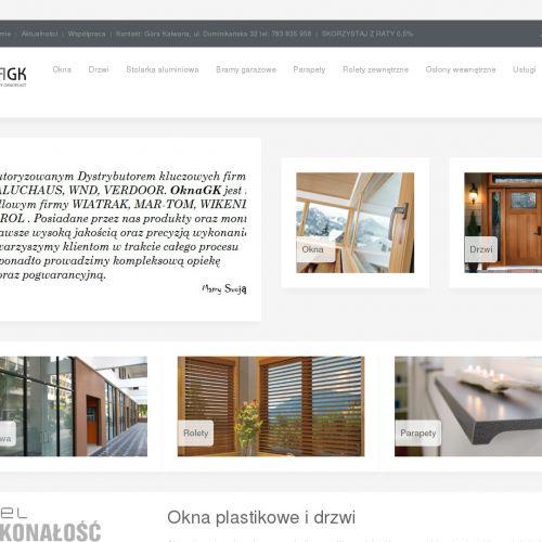 Parapety oraz aluminiowe okna tarasowe