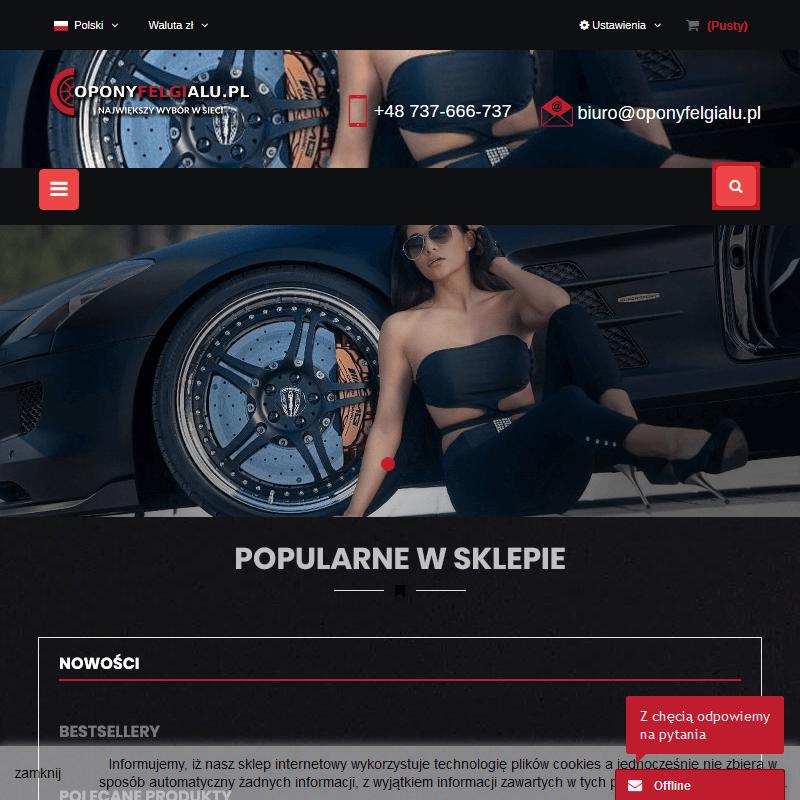 Sprzedaż felg aluminiowych z oponami - Opole