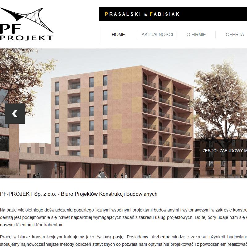 Projekt konstrukcji żelbetowych - Warszawa
