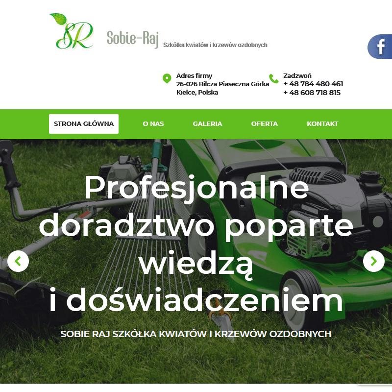 Centrum ogrodniczy w Bilczy koło Kielc